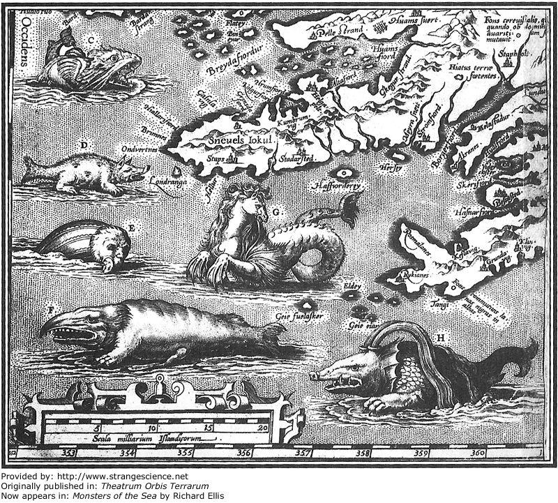 Los marinos de los días de Colón y Crencias en Monstruos