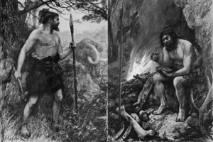 Modern human and Neanderthal