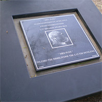 Mrs. Ples plaque